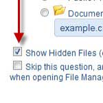 I don't see my .htaccess file in file manager?